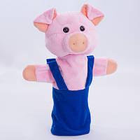 Детская мягкая игрушка,рукавичка,Поросенок