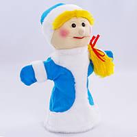 Детская мягкая игрушка,рукавичка,Снегурочка