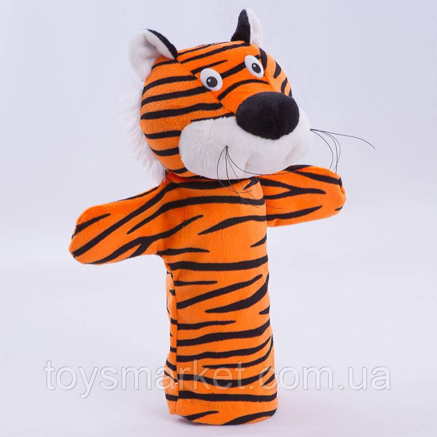 Игрушка рукавичка для кукольного театра Тигр, кукла перчатка на руку