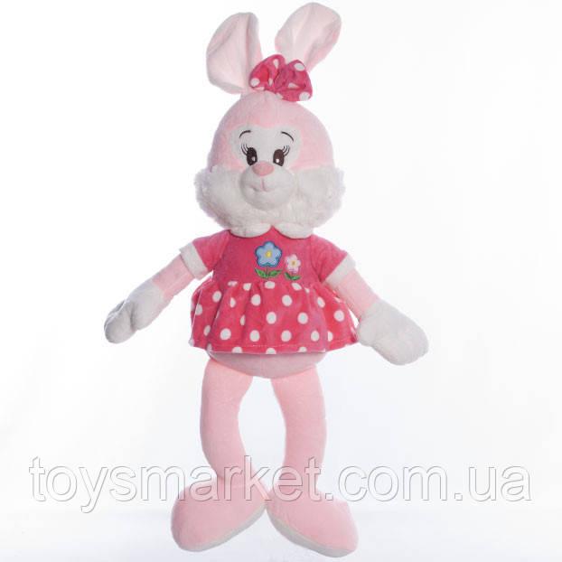 Детская мягкая игрушка зайка Ми розовая