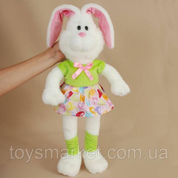 Детская мягкая игрушка,зайчик Лапа,белый