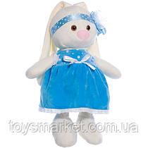 Детская мягкая игрушка,зайчик Баси,белый