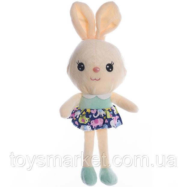 Детская мягкая игрушка,зайка Знайка,бежевая