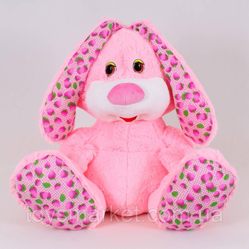 Детская мягкая игрушка,зайчик Пушистик,розовый