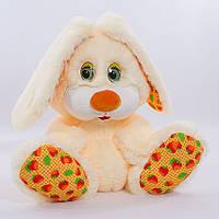 Детская мягкая игрушка,зайчик Пушистик,персиковый
