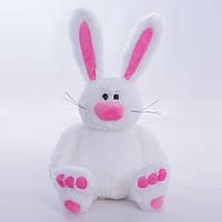 Детская мягкая игрушка,зайчик Сеня,белый
