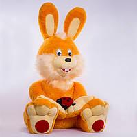 Большая мягкая игрушка,зайчик Солнечный,оранжевый