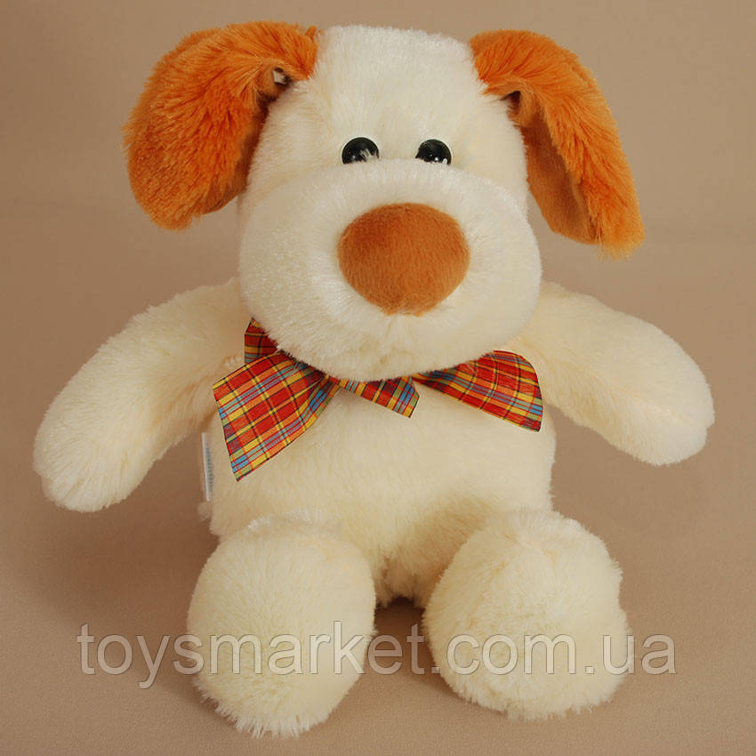 Детская мягкая игрушка,собака Жуля,белая