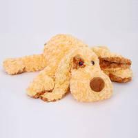 Детская мягкая игрушка,собака Клёпа,коричневая