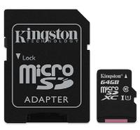Карта памяти MicroSDHC 64Gb Kingston (SDC10G2/64GB) Gen2 Class 10 UHS-I + SD адаптер