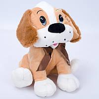 Детская мягкая игрушка,собачка Егорка,коричневый