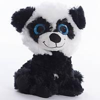 Детская мягкая игрушка,песик Крошка,черно-белый