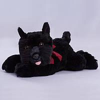 Детская мягкая игрушка,собака Жучка.черная