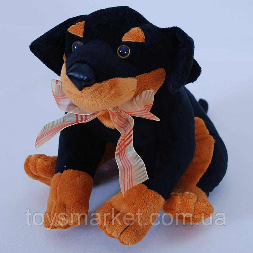 Мягкая игрушка щенок Ротвейлер