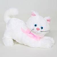 Детская мягкая игрушка,кот Кис,белый