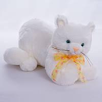 Детская мягкая игрушка,кот Маркел,белый