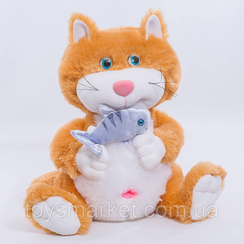 Мягкая игрушка Кот с рыбкой