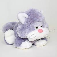 Детская мягкая игрушка,котик Мурчик,серый