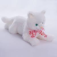 Детская мягкая игрушка,кот Снежок,белый