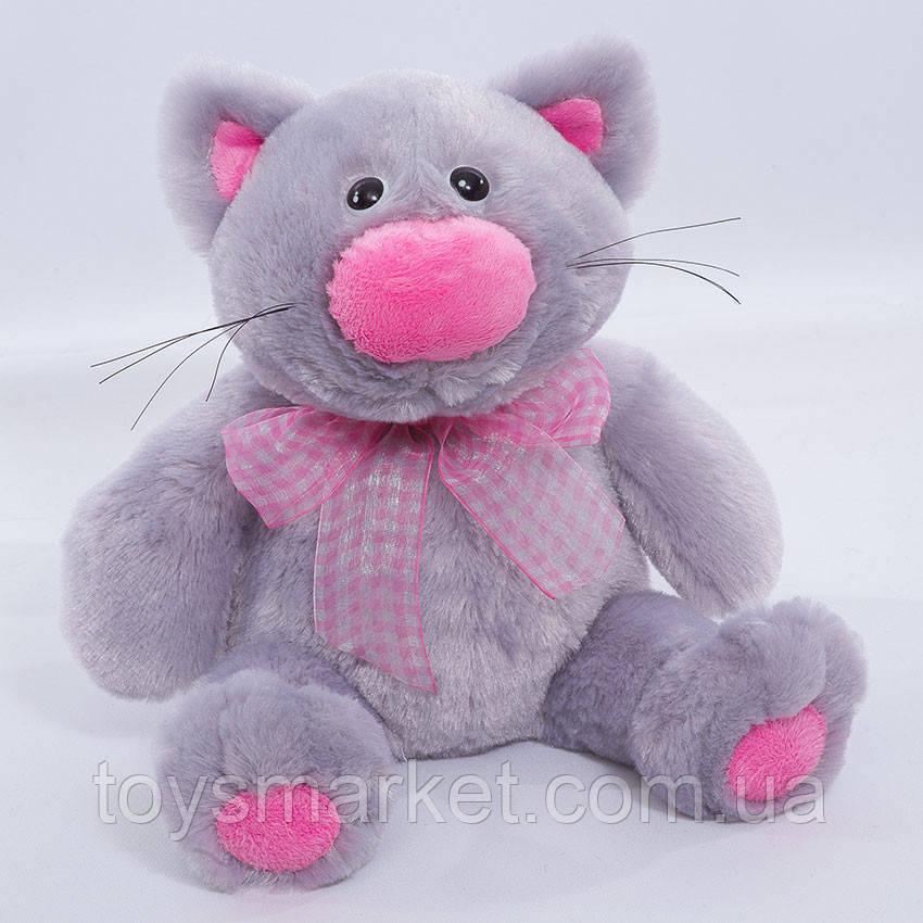 Детская мягкая игрушка,кот Басик,серый