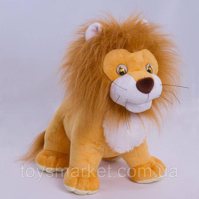 Детская мягкая игрушка лев Симба,коричневый