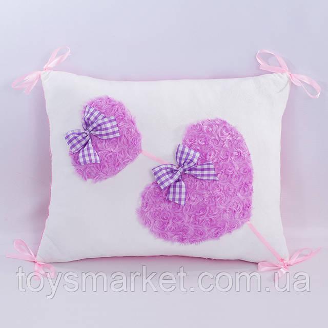 Детская подушка подушка Романтика белая