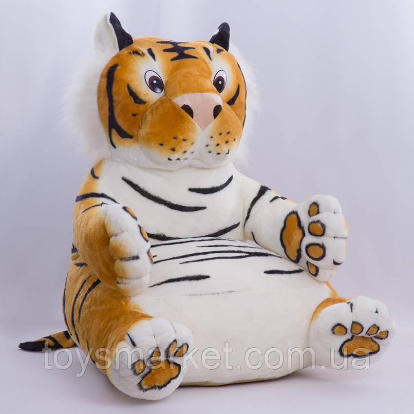 Детское мягкое кресло,тигр Роман