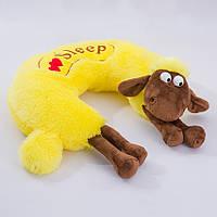Детская подушка,овечка,желтая