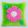 Детская подушка, цветочек,Фиалка