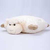 Детская подушка,Ягненок,белая
