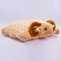 Детская подушка-складушка, Баран,коричневый