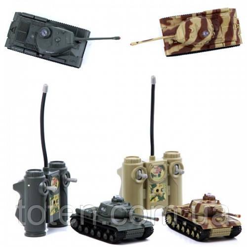 Танковый бой на радиоуправлении 529 ИС-2, 2 танка, поворот, звук, пульт