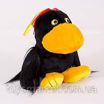 Детская мягкая игрушка,ворона Каркуша,черная