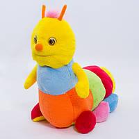 Детская мягкая игрушка,гусеница,Пёстрая