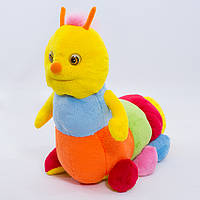 Мягкая игрушка гусеница Пёстрая