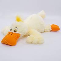 Детская мягкая игрушка,утка Кря,белая