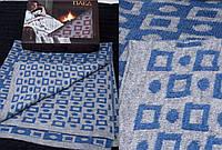 Теплый шерстяной односпальный плед украинского производства в подарочной упаковке. Цвета в ассортименте