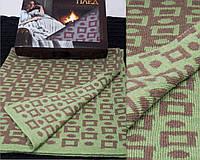 Одинарный шерстяной теплый плед украинского производства в подарочной упаковке. Цвета в ассортименте