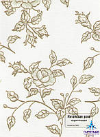 Рулонные шторы Китайская роза коричневая
