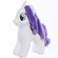 Детская мягкая игрушка,лошадка,Радуга,белая