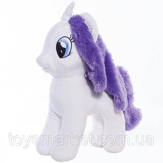 Детская мягкая игрушка лошадка Радуга белая