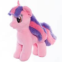 Детская мягкая игрушка,лошадка,Радуга,розовая