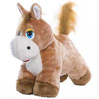 Детская мягкая игрушка,конек Горбунок,коричневый