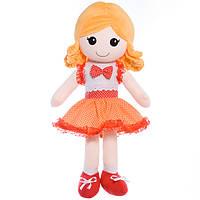 Детская кукла Дина,оранжевая