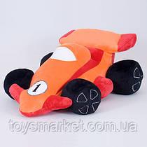 Детская мягкая игрушка,машина,оранжевая
