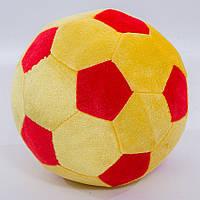 Детская мягкая игрушка,футбольный мяч,красно-желтый