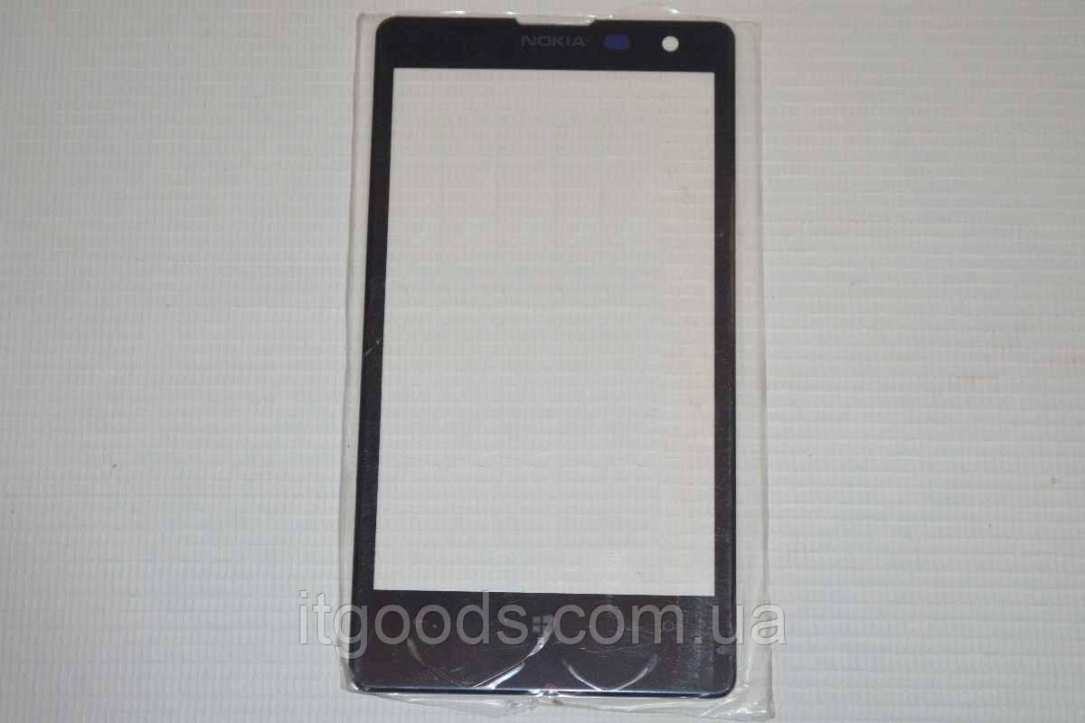 Стекло дисплея (экрана) для Nokia Lumia 1020 (черный цвет)