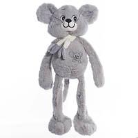 Детская мягкая игрушка, плюшевый мишка Ирэн,серая