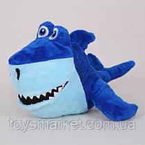 Детская мягкая игрушка Акула,синяя