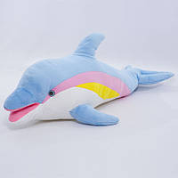 Детская мягкая игрушка,Дельфин,голубой